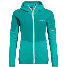 VAUDE Yaras Hooded Fleece Jacket Women peacock
